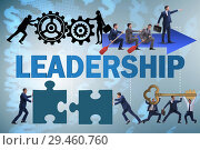 Купить «Concept of leadership with many business situations», фото № 29460760, снято 18 января 2019 г. (c) Elnur / Фотобанк Лори