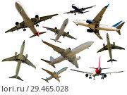 Купить «Collection of aircrafts isolated», фото № 29465028, снято 25 октября 2017 г. (c) Яков Филимонов / Фотобанк Лори