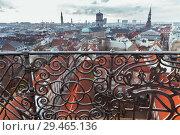 Купить «Skyline of Copenhagen, Denmark», фото № 29465136, снято 10 декабря 2017 г. (c) EugeneSergeev / Фотобанк Лори