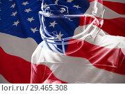 Купить «Composite image of american flag with stars and stripes», фото № 29465308, снято 19 марта 2019 г. (c) Wavebreak Media / Фотобанк Лори