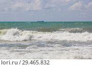 Купить «Шторм на Черном море», фото № 29465832, снято 19 апреля 2015 г. (c) Олег Хархан / Фотобанк Лори