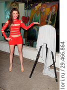 Купить «Alicia Arden unveils her painting wearing a red skimpy dress in Los Angeles Featuring: Alicia Arden Where: Los Angeles, California, United States When: 01 May 2018 Credit: WENN.com», фото № 29466864, снято 1 мая 2018 г. (c) age Fotostock / Фотобанк Лори