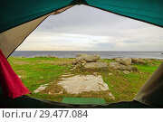 Beautiful view from the tent by the sea. Tarhankut. Crimea (2018 год). Стоковое фото, фотограф Алексей Маринченко / Фотобанк Лори