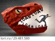 Купить «Businessman in the jaws of debt and loan», фото № 29481580, снято 15 декабря 2018 г. (c) Elnur / Фотобанк Лори