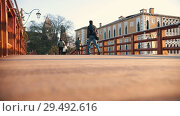 Купить «Venice, Italy - November 13, 2018. -People walking on the bridge. Italia. Sunset», видеоролик № 29492616, снято 13 ноября 2018 г. (c) Константин Шишкин / Фотобанк Лори