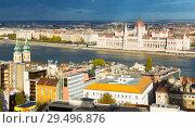 Купить «View of Budapest with Hungarian Parliament», фото № 29496876, снято 29 октября 2017 г. (c) Яков Филимонов / Фотобанк Лори
