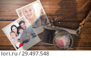 Купить «Video composition with snow over camera with instant pictures on side», видеоролик № 29497548, снято 20 марта 2019 г. (c) Wavebreak Media / Фотобанк Лори