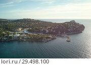 Купить «Aerial panoramic view Santa Ponsa town of Mallorca. Spain», фото № 29498100, снято 4 ноября 2018 г. (c) Alexander Tihonovs / Фотобанк Лори