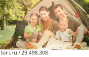 Купить «Family camping with nature transition», видеоролик № 29498308, снято 29 мая 2020 г. (c) Wavebreak Media / Фотобанк Лори