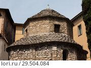 Cappella di santa croce. Upper town of Bergamo, Italy (2014 год). Стоковое фото, фотограф Виталий Батанов / Фотобанк Лори