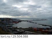 Купить «Корсаков. Порт», фото № 29504088, снято 31 октября 2018 г. (c) Ed_Z / Фотобанк Лори