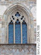 Window of Palazzo della Ragione, Upper town of Bergamo, Italy (2014 год). Стоковое фото, фотограф Виталий Батанов / Фотобанк Лори