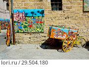 Купить «Franco Bertolino shop selling traditional objects. Palermo, main city of Sicily. Italy», фото № 29504180, снято 25 мая 2019 г. (c) age Fotostock / Фотобанк Лори