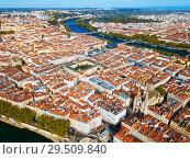 Купить «Aerial view of Lyon», фото № 29509840, снято 12 октября 2018 г. (c) Яков Филимонов / Фотобанк Лори