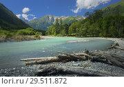 Купить «River in mountains», фото № 29511872, снято 24 июля 2018 г. (c) александр жарников / Фотобанк Лори