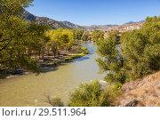 Купить «Landscape Kura River, Georgia», фото № 29511964, снято 25 сентября 2018 г. (c) Юлия Бабкина / Фотобанк Лори
