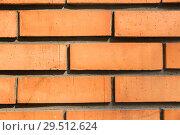 Купить «close up of brick wall texture», фото № 29512624, снято 10 февраля 2018 г. (c) Syda Productions / Фотобанк Лори