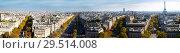 Купить «Aerial view of Paris with Eiffel Tower», фото № 29514008, снято 28 января 2020 г. (c) Яков Филимонов / Фотобанк Лори