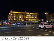 The FSB building on Lubyanka square in Moscow, Russia (2018 год). Редакционное фото, фотограф Юрий Шурчков / Фотобанк Лори