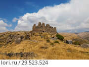 Купить «Medieval fortress Amberd on the slope of mount Aragats in Armenia», фото № 29523524, снято 21 сентября 2018 г. (c) Наталья Волкова / Фотобанк Лори