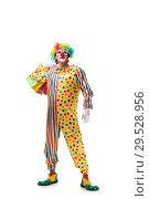 Купить «Funny clown isolated on white background», фото № 29528956, снято 28 сентября 2018 г. (c) Elnur / Фотобанк Лори