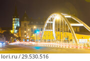 Купить «Sibiu streets with cathedral in night», фото № 29530516, снято 16 сентября 2017 г. (c) Яков Филимонов / Фотобанк Лори
