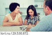 Купить «Portrait of young woman sitting and looking sad», фото № 29530872, снято 19 января 2019 г. (c) Яков Филимонов / Фотобанк Лори