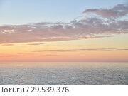 Купить «Vanilla sunset on the Atlantic ocean in Normandy», фото № 29539376, снято 21 октября 2018 г. (c) Ирина Аринина / Фотобанк Лори