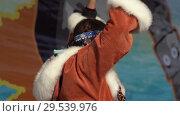 Купить «Girl dancing in national clothing indigenous inhabitants Kamchatka», видеоролик № 29539976, снято 4 ноября 2018 г. (c) А. А. Пирагис / Фотобанк Лори