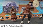 Купить «Incendiary dance of indigenous inhabitants of Kamchatka with tambourine», видеоролик № 29539988, снято 4 ноября 2018 г. (c) А. А. Пирагис / Фотобанк Лори