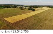 Купить «Rural autumn landscape from height in Russia», видеоролик № 29540756, снято 18 ноября 2019 г. (c) Володина Ольга / Фотобанк Лори