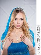 Купить «Portrait of nice lady», фото № 29542224, снято 22 декабря 2015 г. (c) Сергей Сухоруков / Фотобанк Лори