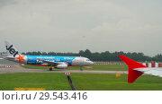 Купить «Airplanes before departure», видеоролик № 29543416, снято 25 ноября 2018 г. (c) Игорь Жоров / Фотобанк Лори