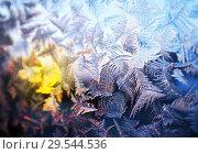 Купить «морозный узор на стекле», фото № 29544536, снято 20 января 2019 г. (c) ElenArt / Фотобанк Лори