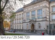 Купить «Hamburg, Germany. Museum fur Kunst und Gewerbe (Building of Museum of Arts and Crafts)», фото № 29546720, снято 8 ноября 2018 г. (c) Наталья Николаева / Фотобанк Лори