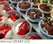 Купить «Muffins and yogurt dessert with a raspberries», фото № 29547272, снято 3 ноября 2018 г. (c) Володина Ольга / Фотобанк Лори