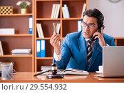 Купить «Lawyer working in the office», фото № 29554932, снято 8 августа 2018 г. (c) Elnur / Фотобанк Лори