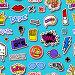 Купить «Seamless pattern with Hipsters teens doodles», иллюстрация № 29560920 (c) Миронова Анастасия / Фотобанк Лори