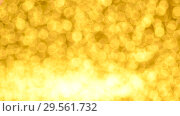 Купить «Yellow Christmas or New Year background», видеоролик № 29561732, снято 9 декабря 2018 г. (c) Сергей Петерман / Фотобанк Лори