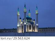 Купить «Kul Sharif Mosque in Kazan in the evening light. Russia», фото № 29563624, снято 5 декабря 2018 г. (c) Яна Королёва / Фотобанк Лори