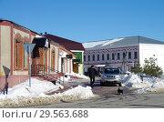 Купить «Зарайск, улица Красноармейская зимой», фото № 29563688, снято 9 марта 2018 г. (c) Natalya Sidorova / Фотобанк Лори