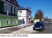Купить «Зарайск, улица Красноармейская зимой», фото № 29563692, снято 9 марта 2018 г. (c) Natalya Sidorova / Фотобанк Лори