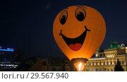 Hot air balloon. Стоковое видео, видеограф Aleksey Popov / Фотобанк Лори