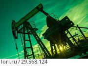 Купить «Oil pump.Oil pump jack. Extraction of oil. Petroleum concept.», фото № 29568124, снято 25 октября 2016 г. (c) bashta / Фотобанк Лори