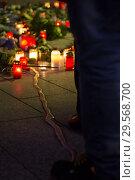 Купить «Germany, Berlin - Commemoration of the victims of the terrorist attack at Christmas Market Breitscheidplatz (Gedaechtniskirche) 2016», фото № 29568700, снято 20 декабря 2017 г. (c) Caro Photoagency / Фотобанк Лори