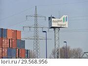 Купить «Germany, North Rhine-Westphalia - inland port in Duisburg», фото № 29568956, снято 7 марта 2018 г. (c) Caro Photoagency / Фотобанк Лори