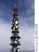 Купить «Reischach, Italy, mobile radio transmission tower», фото № 29569028, снято 5 февраля 2018 г. (c) Caro Photoagency / Фотобанк Лори