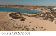 Купить «Ayia Napa, Cyprus. above on Makronissos Beach», видеоролик № 29572608, снято 25 февраля 2020 г. (c) Володина Ольга / Фотобанк Лори