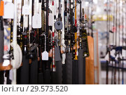 Купить «Picture of new good fishing rods for fishing», фото № 29573520, снято 16 января 2018 г. (c) Яков Филимонов / Фотобанк Лори