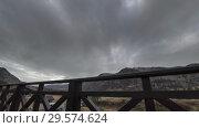 Купить «Timelapse of wooden fence on high terrace at mountain landscape with clouds. Horizontal slider movement», видеоролик № 29574624, снято 17 марта 2018 г. (c) Александр Маркин / Фотобанк Лори